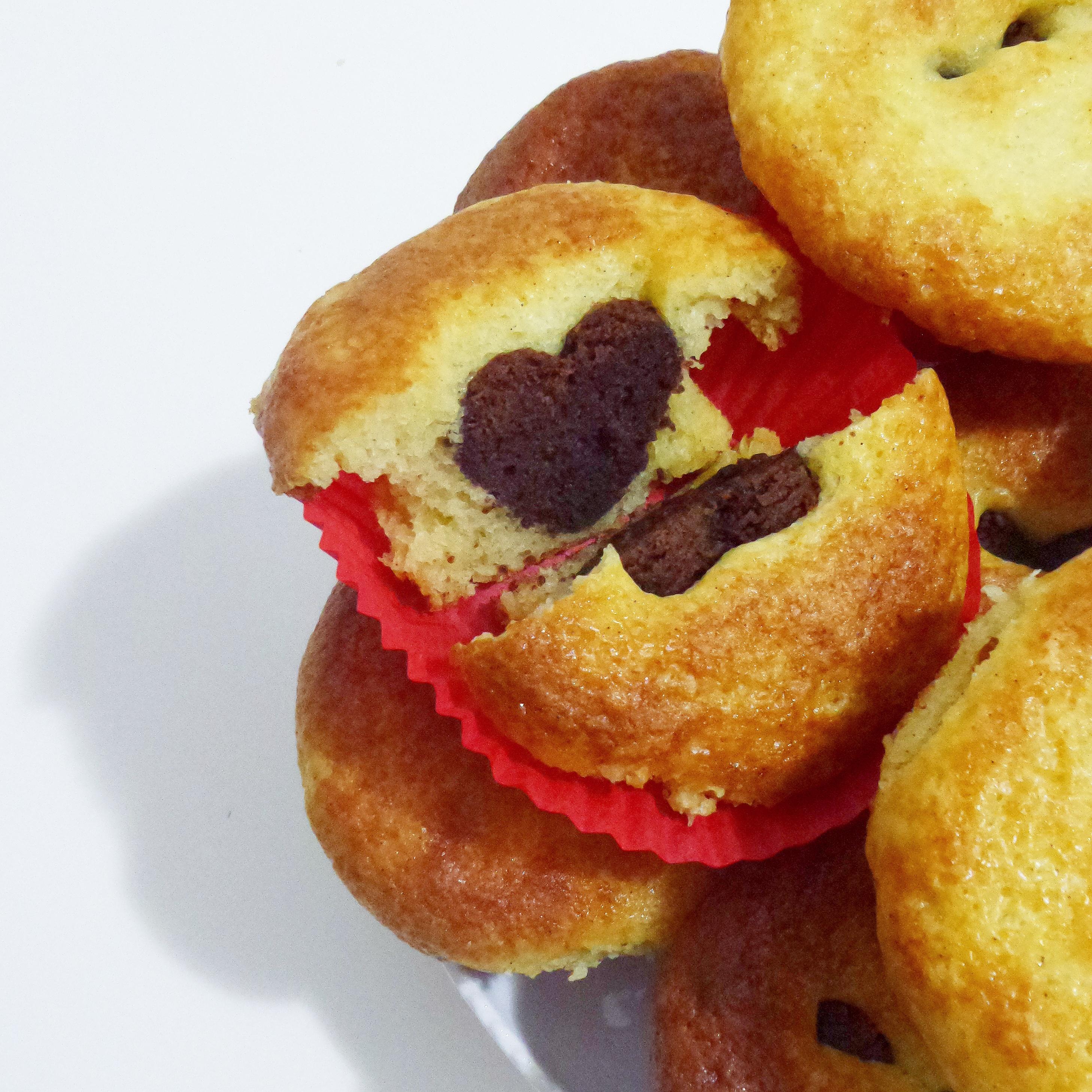 Muffin cuore di brownie