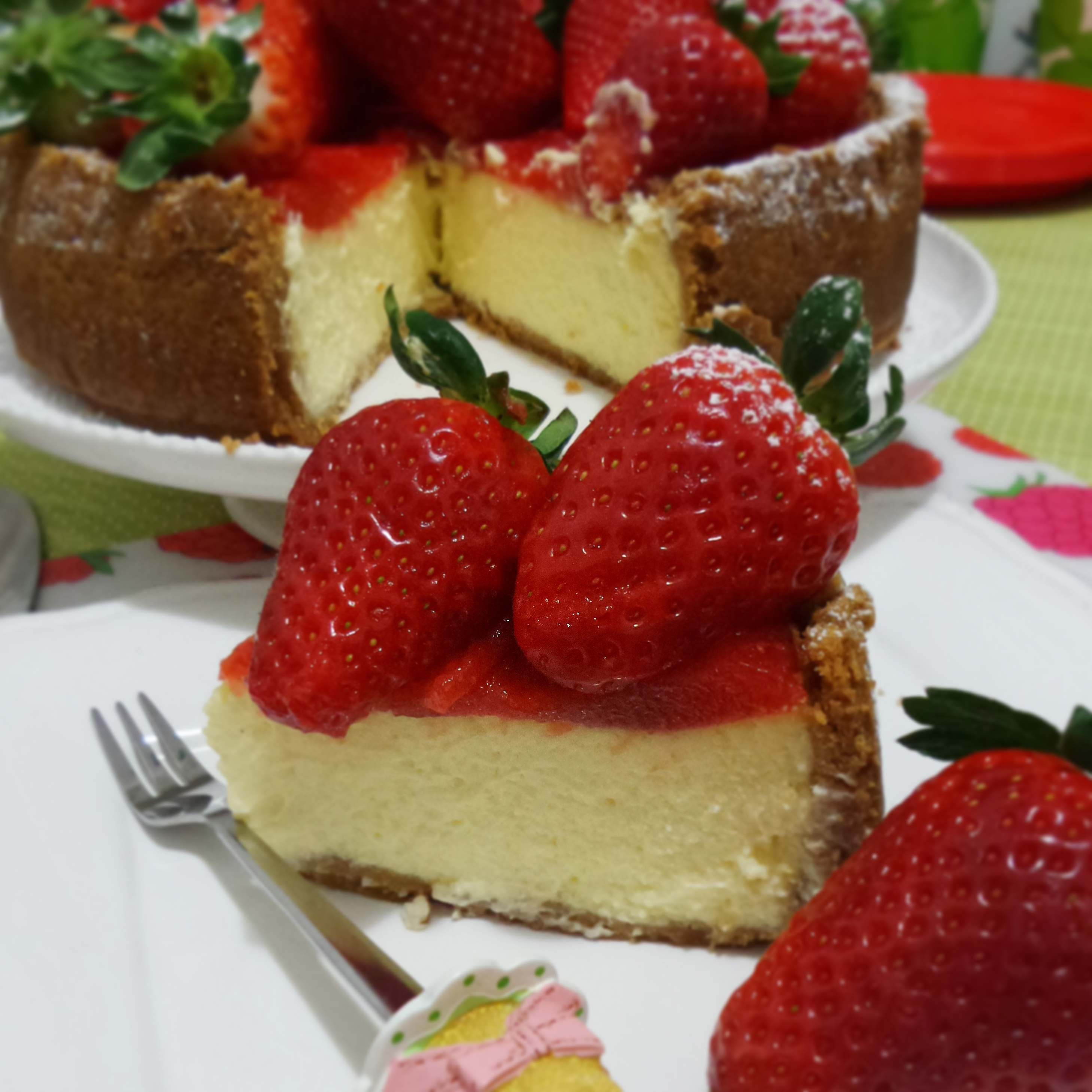 New york cheesecake con fragole