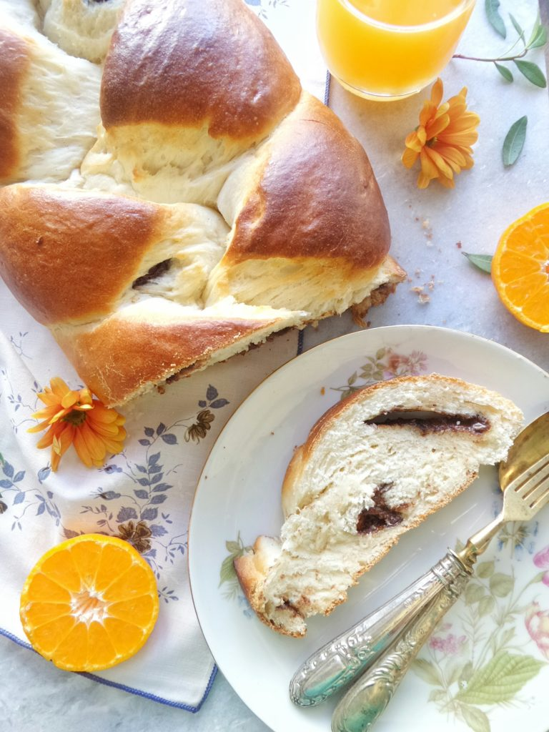 Treccia di Pan brioche allo yogurt {senza uova ne' burro}