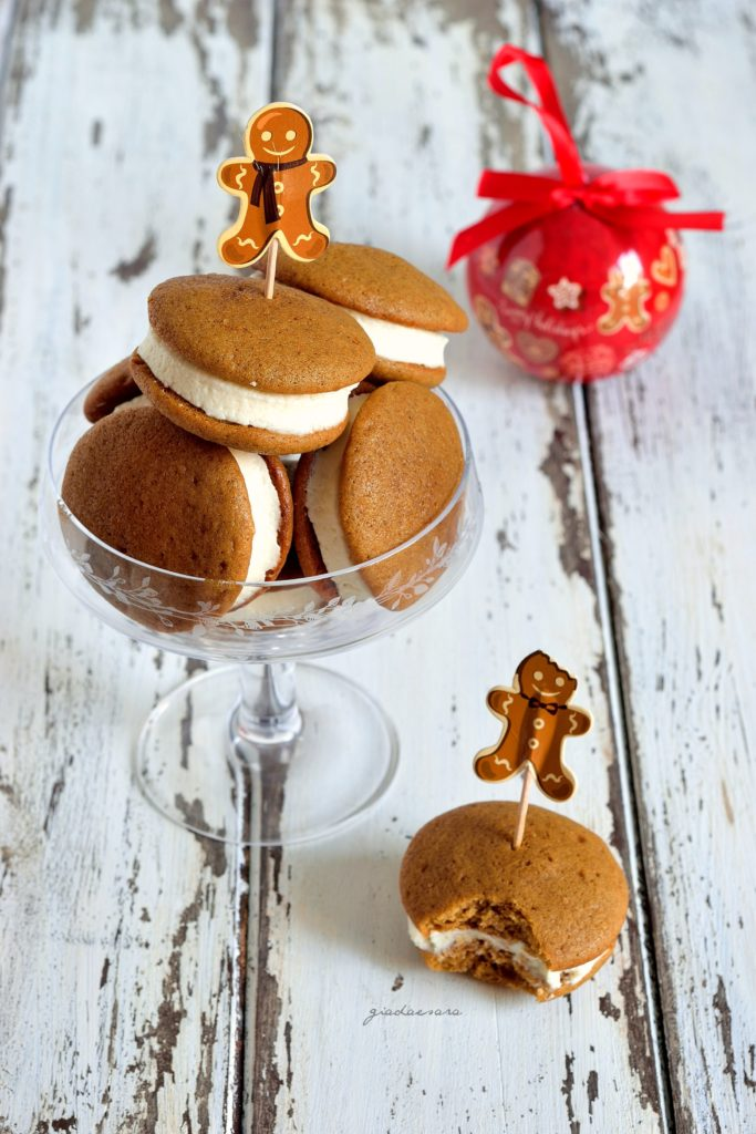 Gingerbread soft cookies sandwiches