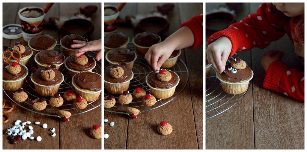 Muffin di Natale renna e orsetto