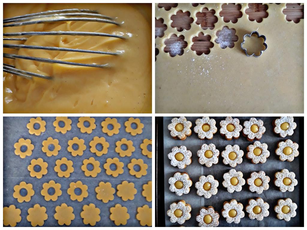 Margheritine alle mandorle con crema al limone